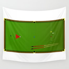 Snooker Cues Wall Tapestry