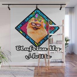 Unfriendly Hottie Retro dog Wall Mural