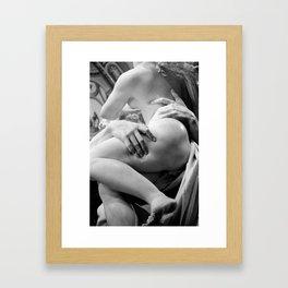 DEATH GRIP. Framed Art Print
