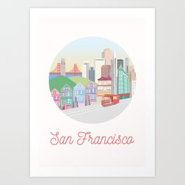 San Francisco City Art Art Print