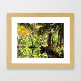 Green Oasis Framed Art Print