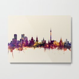 Moscow Russia Skyline Metal Print