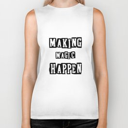 making magic happen chemist t-shirts Biker Tank
