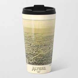 Aerial View of Alvord, Texas (1890) Travel Mug