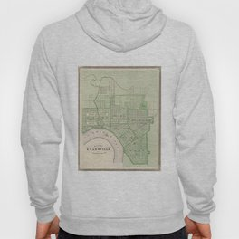 Vintage Map of Evansville Indiana (1876) Hoody