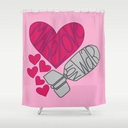 Make Love, Not War Shower Curtain