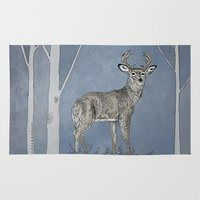 stag Area & Throw Rugs featuring Stag  by Leanna Rosengren