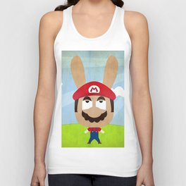 We are all rabbits \ Mario Unisex Tank Top