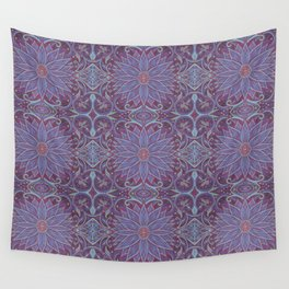 """""""Lavender lotus"""" floral arabesque pattern Wall Tapestry"""