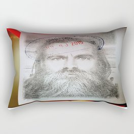 Self-Portrait, Admitted, Crucified at Customs. July 20, 2015 Rectangular Pillow