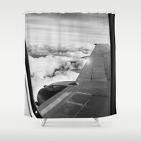 plane Shower Curtains featuring Plane by Laheff
