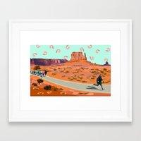 forrest gump Framed Art Prints featuring forrest gump by rachel mindes