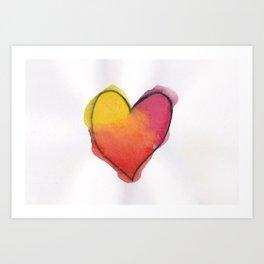 A Little Heart Art Print