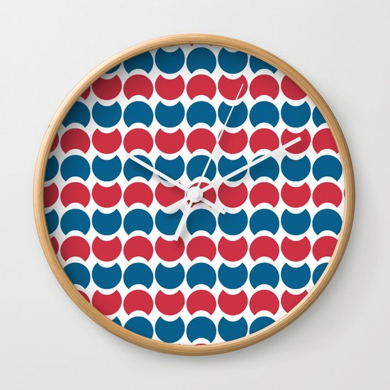 Hob Nob America Stripes Wall Clock