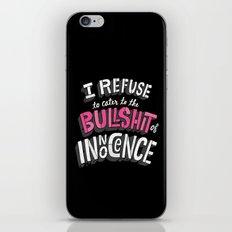 The Bullshit of Innocence  iPhone Skin