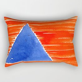 orange desert Rectangular Pillow