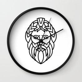 Zeus God of Sky and Thunder Mono Line Wall Clock