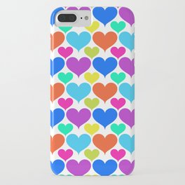 Bright hearts iPhone Case