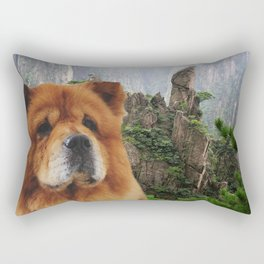 Dog Chow Chow Rectangular Pillow