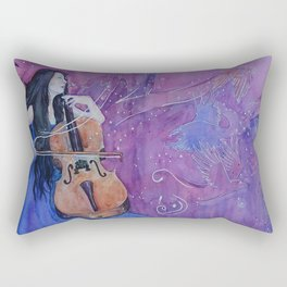 She was creating her living nightmares Rectangular Pillow