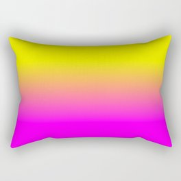 Neon Yellow and Bright Hot Pink Ombré  Shade Color Fade Rectangular Pillow