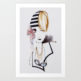 SWIM GIRL Art Print