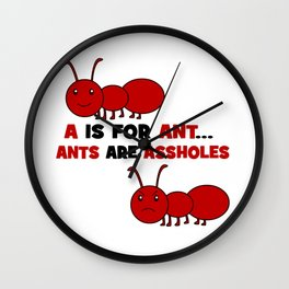 A is For Ant Wall Clock