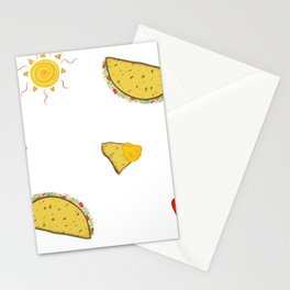Hot Pepper Taco Party Stationery Cards
