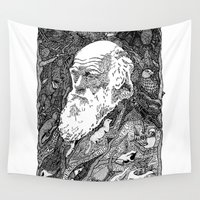 darwin Wall Tapestries featuring 'Darwin' by Sarah King by We Are West Coast