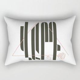 Armenian Calligraphy Line Art by Ania Mardrosyan Rectangular Pillow