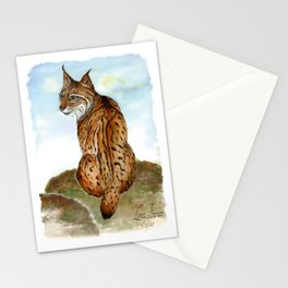 Iberian Lynx Watercolor Stationery Cards
