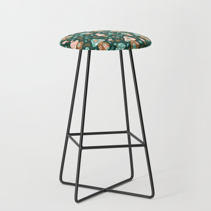 Fairy Toadstool Houses Bar Stool By