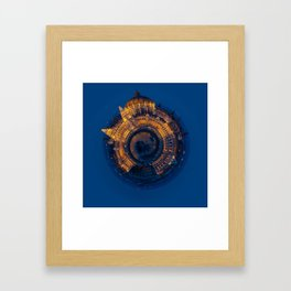Tiny World of the Hungarian Parliament in Budapest Framed Art Print