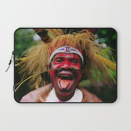 Eating a Betel Nut in Papua New Guinea Laptop Sleeve
