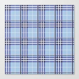 AFE Blue Tartan Canvas Print