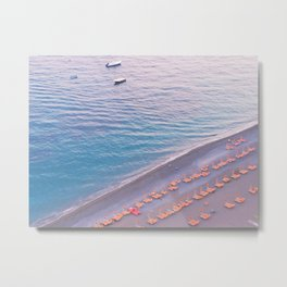 Positano Italy Sunset Beach Metal Print
