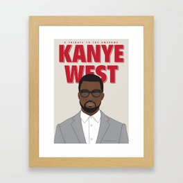 Tribute to Mr West Framed Art Print