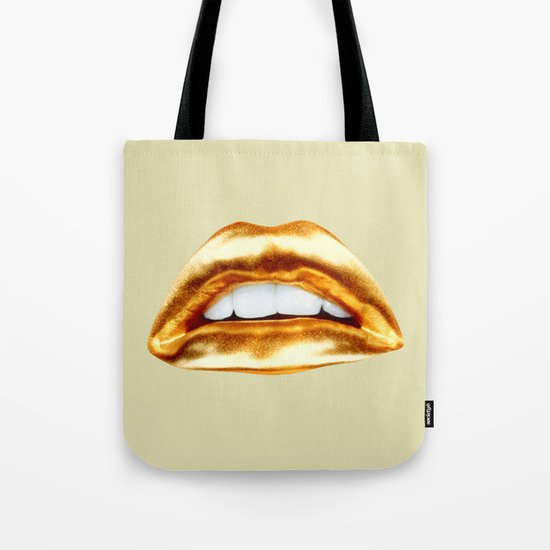 Golden lips Tote Bag