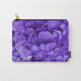Amethyst  Hydrangea Flowers Garden Art Carry-All Pouch