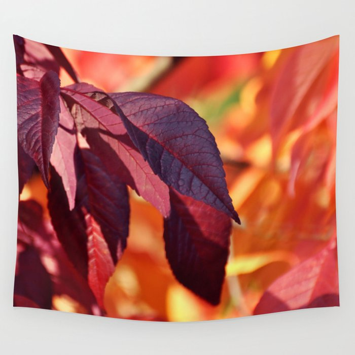 VIBRANT FALL LEAVES Wall Tapestry