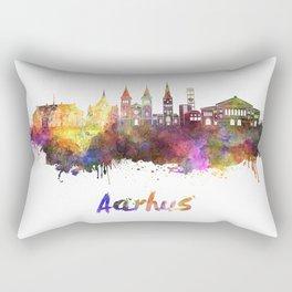 Aarhus skyline in watercolor Rectangular Pillow
