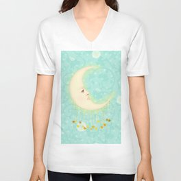 Woman in the Moon Unisex V-Neck