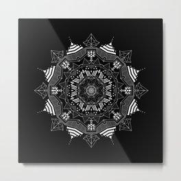 backbone mandala Metal Print