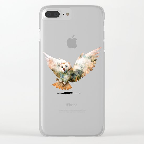 OWL NATURE Clear iPhone Case