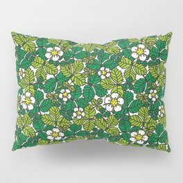 green density full of leaves and flowers Pillow Sham