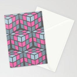 cascade - pink Stationery Cards
