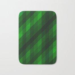 Weaving Green Diamonds Pattern Badematte