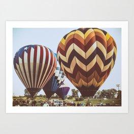Hot Air Balloon Festival Art Print