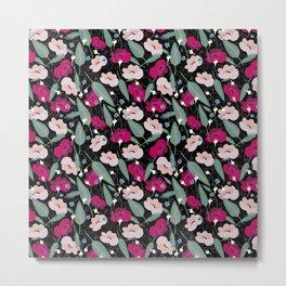Botanical pink pattern Metal Print