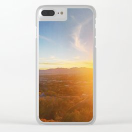 SLC Sunset Clear iPhone Case